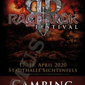 Ragnarök Festival Camping Ticket Muster