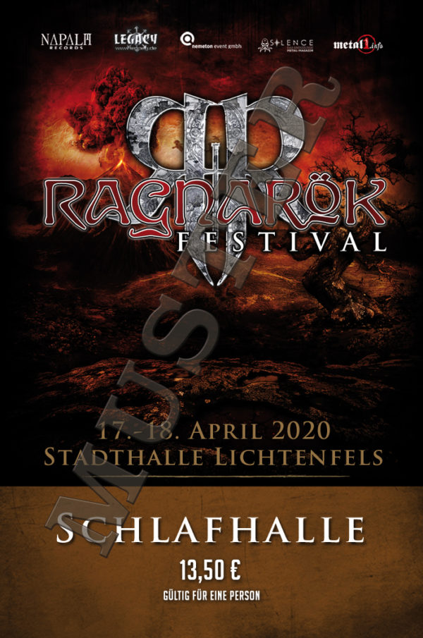 Ragnarök Festival Schlafhallen-Ticket Muster